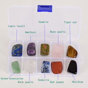 10 pieces/box big size Natural Chakra Tumbled Stone Gemstone Rock Mineral Crystal polish Healing meditation for feng shui decor