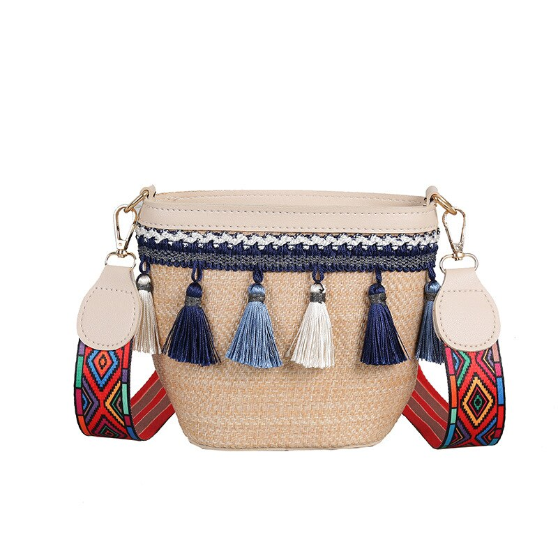 Boho Summer Straw Bag Women Crossbody Bag