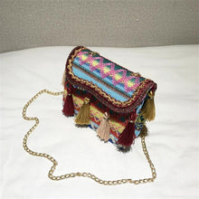 Load image into Gallery viewer, Wool Knit Shoulder Bags Bohemian Style Tassel Messenger Bag
