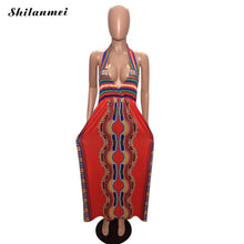 Load image into Gallery viewer, Totem Printed Sleeveless Sexy Long  Dresses