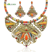 Load image into Gallery viewer, Bohemia necklace&pendants multicolor choker necklace big ethnic collar tribal jewelry