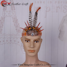 Load image into Gallery viewer, Bohemian Feather Headband  Headdress