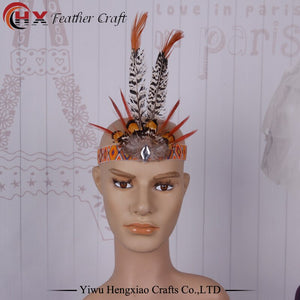 Bohemian Feather Headband  Headdress