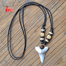 Load image into Gallery viewer, Shark Tooth Pendant Tribal  Choker