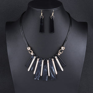 Choker  Drop Tassel Jewelry Set