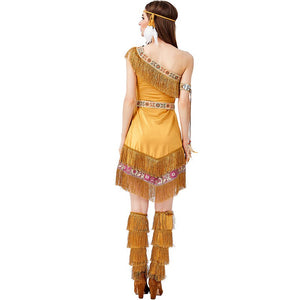 Native Indians Princess Goddess of Tribe Costume Dress