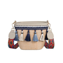 Load image into Gallery viewer, Boho Summer Straw Bag Women Crossbody Bag