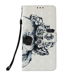 Dream Catcher Skull Wallet Leather Case