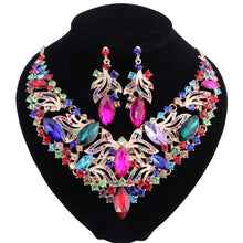 Load image into Gallery viewer, Rhinestone Crystal Choker  Earring Collar Boho Jewelry Sets