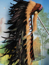 Load image into Gallery viewer, 36inch Black Indian feather headdress indian war bonnet halloween