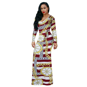l Totem prints and long-sleeved dresses
