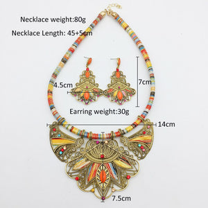 Bohemia necklace&pendants multicolor choker necklace big ethnic collar tribal jewelry