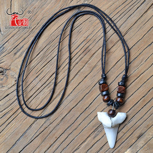 Shark Tooth Pendant Tribal  Choker