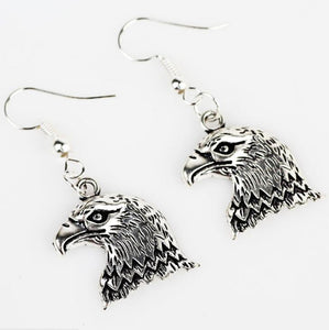 High Quality Cool Charm Animal Eagle Head Pendant Drop Earrings Jewelry Sets