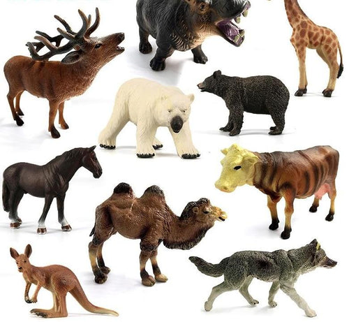 Horse camel Giraffe Deer Hippo Wolf Elephant Leopard Cow Bear Tiger Lion Animal model figurine home decor decoration accessories