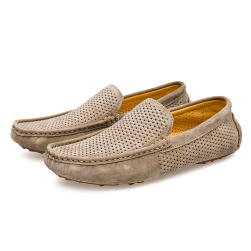Men's Genuine Leather Slip-on Casual Driving Moccasins