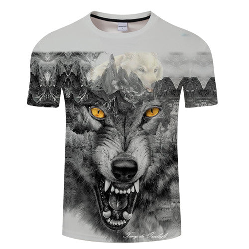 Native 3D t shirt Men Women tshirt Wolf T-shirt Black Tees Short Sleeve Top 1