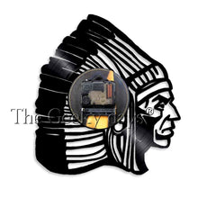 Load image into Gallery viewer, Native American Indian Chief Vinyl Record Wall Clock