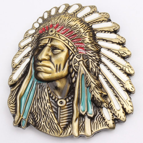 Native American Indian  belt buckle