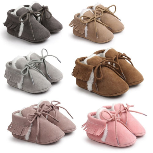 PU Suede Leather Newborn Baby Moccasins