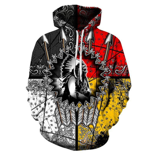 Native American Chief 3D Hoodie Hoodies