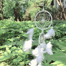Load image into Gallery viewer, White Dreamcatcher Gift Handmade Dream Catcher Net With Feathers Wall Hanging Decoration Ornament For Wedding Festival