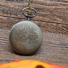 Load image into Gallery viewer, Pocket Watch Bronze Native American Style  Pocket Watch Necklace Pendant for Women Man Gift Watch
