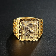 Load image into Gallery viewer, Punk Rock Eagle Men 's Ring Luxury Gold Color Resizeable To 7-11 Finger Jewelry Never Fade