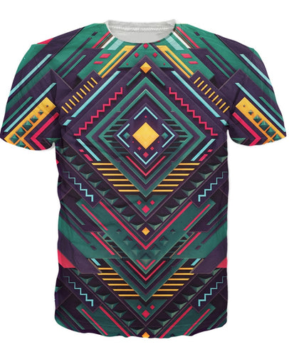 Tribal 3d Pure Geometry T-Shirt