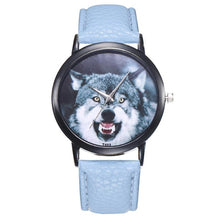 Load image into Gallery viewer, Casual  Leather Band Wolf Pattern Analog Quartz Sport Watch