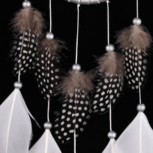 Load image into Gallery viewer, Silver Bead Dream Catcher with Feather