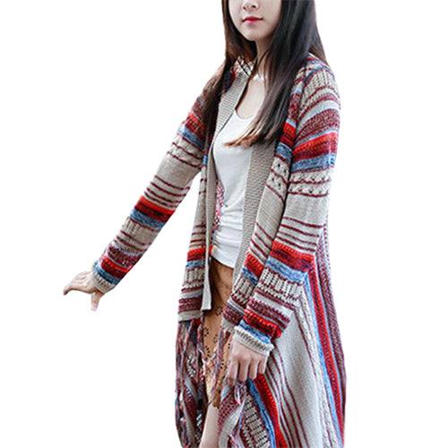 Nation Wind Tassel Knit Cardigan