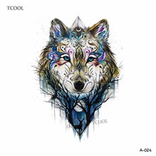 Load image into Gallery viewer, Wolf Temporary Tattoo Stickers Waterproof Body Art