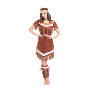 Costumes American Indian Princess Cosplay Women Native Hunter Huntress Costume Girl Fancy Dress for Adult Kids