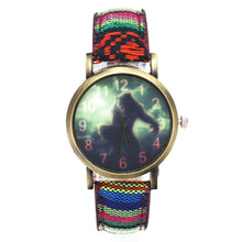 Load image into Gallery viewer, Wolf Wolverine Game Quartz Watches Fashion Sport Denim Canvas Wristband Military Camouflage Analog Wrist Watch