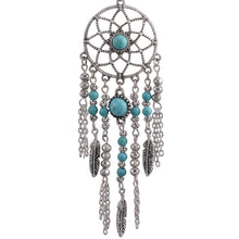 Load image into Gallery viewer, Tassel Dream Catcher Stone Feather Chain Jewelry Set