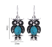 Load image into Gallery viewer, Owl Natural Stone Jewelry Sets