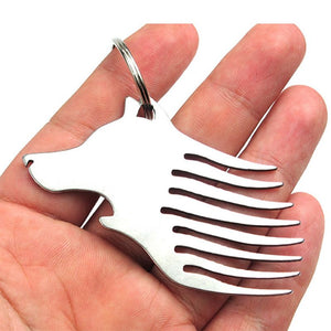 Wolf Head Mini Tool Combination Keychain Jewelry Gifts Multi-function