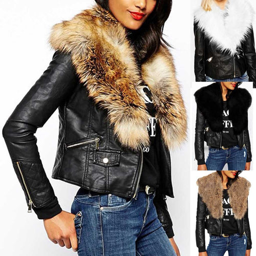 Plush Solid Comfortable Leather Long Sleeve Jacket