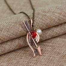 Load image into Gallery viewer, Teen Wolf Necklace Bow Arrow Archery Archer Pendant Necklace Crystal Jewelry