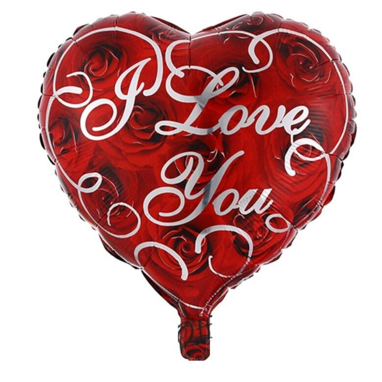 I Love you - Red Heart Balloon - VD