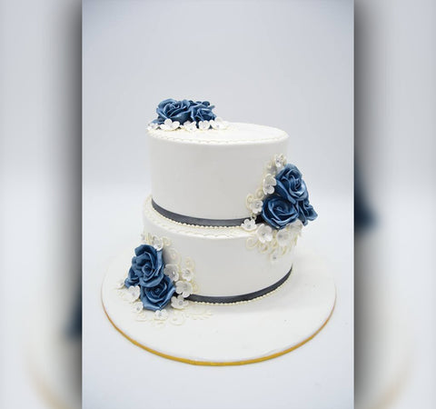 Pleasing Wedding Cake - Arabian Petals