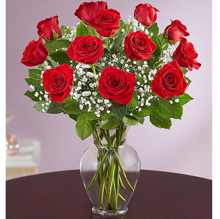 Long Stem Red Roses - VD - Arabian Petals