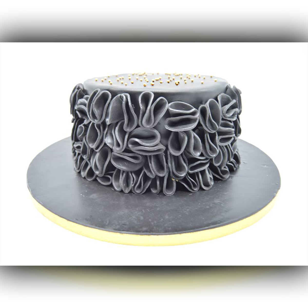 Grey Abstract Cake - Arabian Petals
