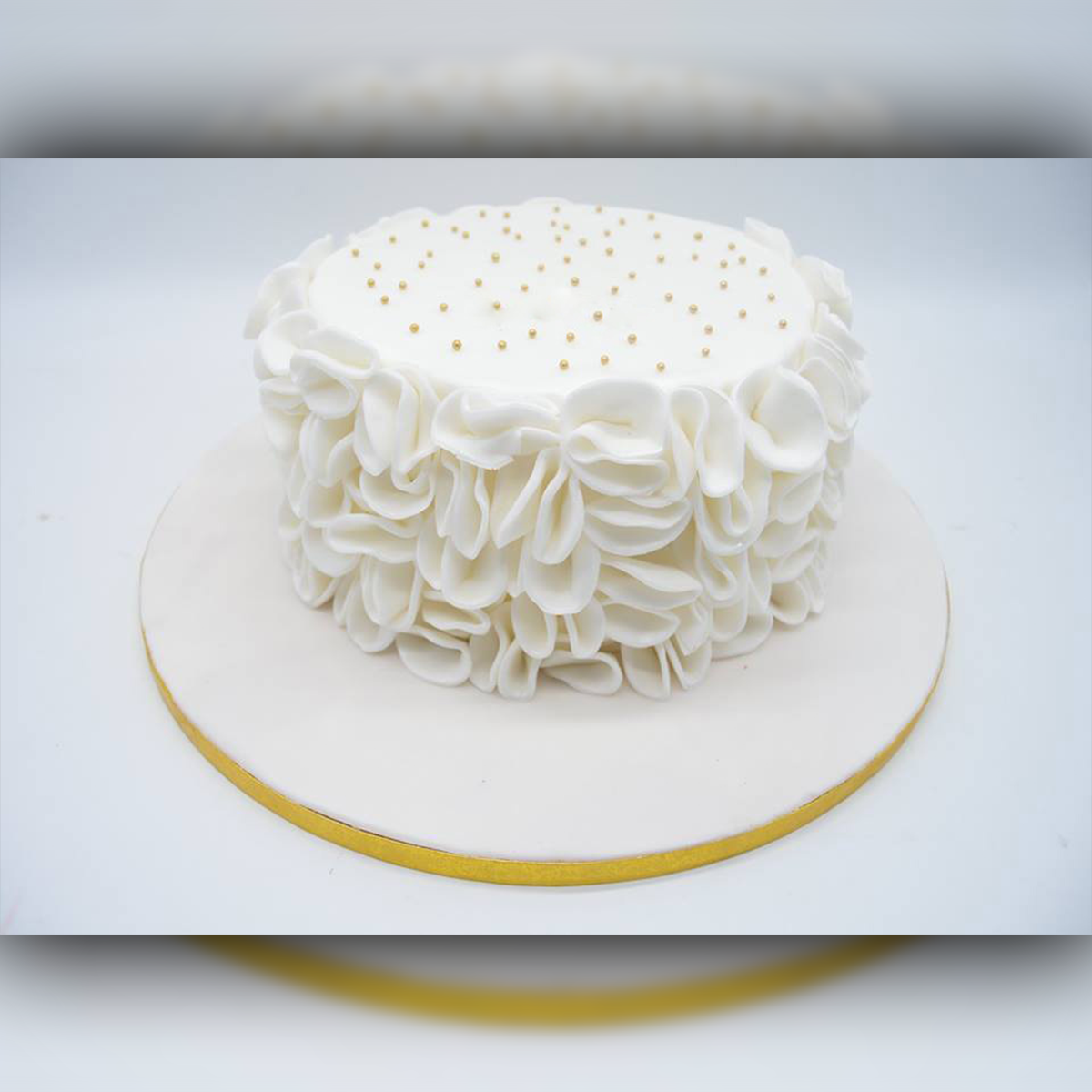 White Abstract Cake - Arabian Petals