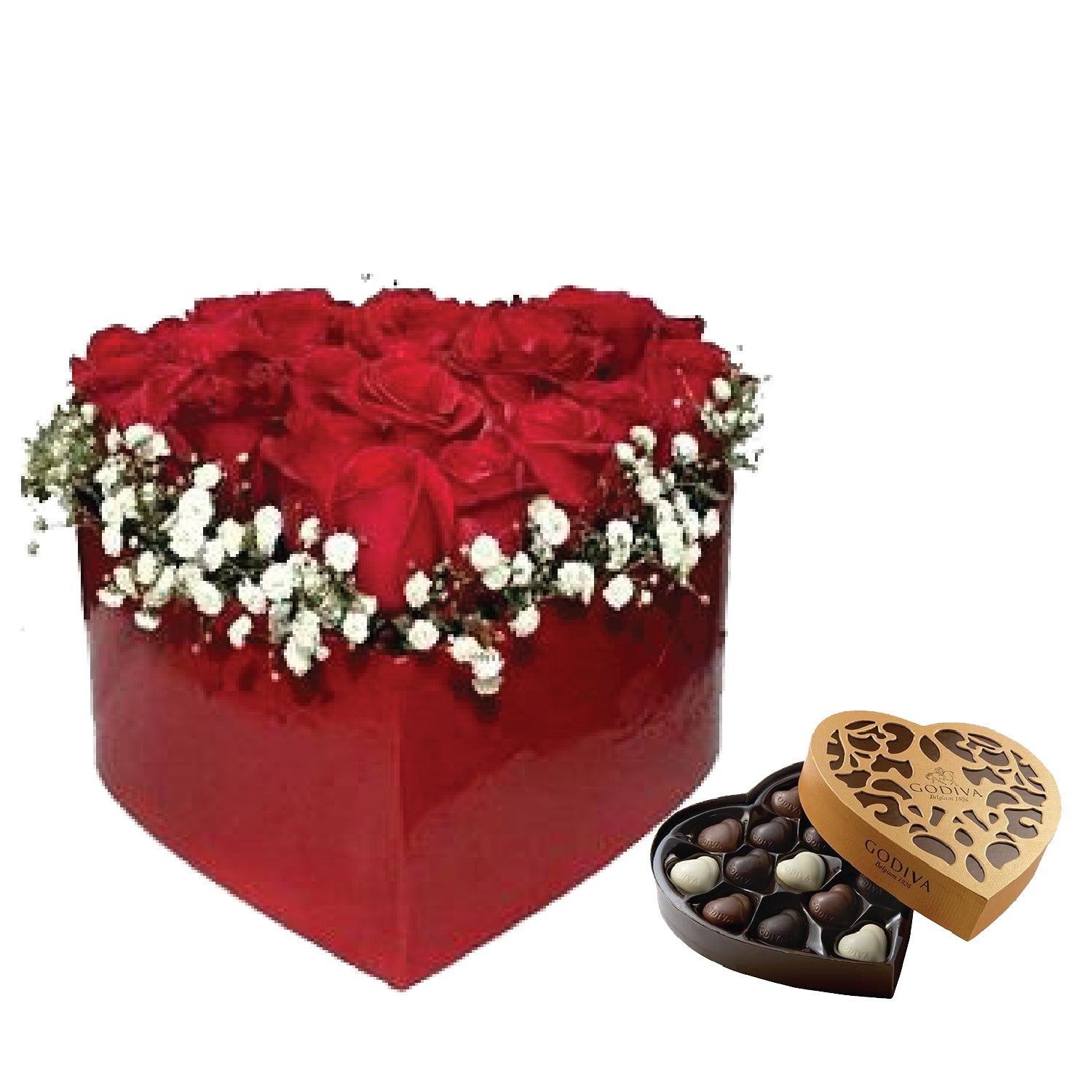 Affection  One Box of Godiva Coeur Iconique Grand - Arabian Petals