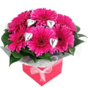 Gerbera and Chocolate Box - Arabian Petals