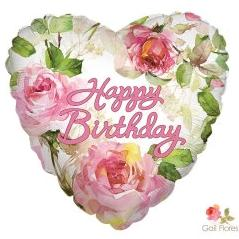 Happy Birthday - Roses Balloon - Arabian Petals