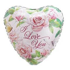 I Love You - Roses Balloon