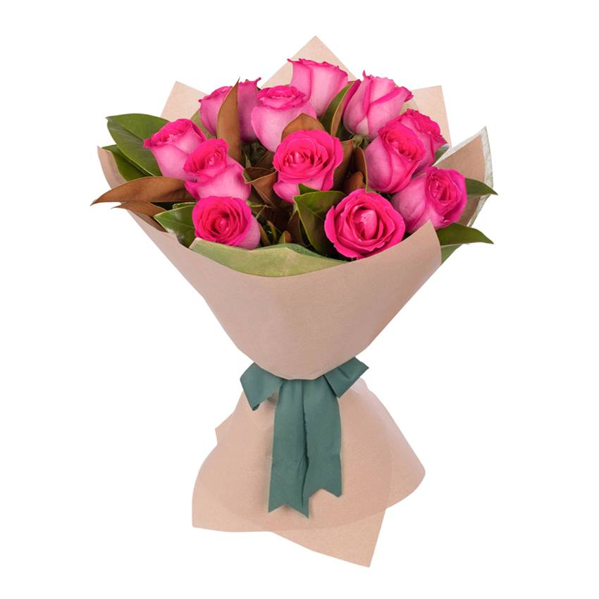 Dark Pink Rose's Bouquet - Arabian Petals